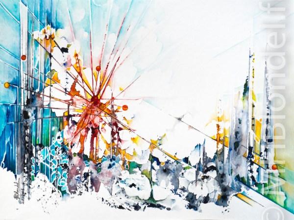 Ephémère – Aquarelle sur papier – 30 X 40 cm – Non disponible