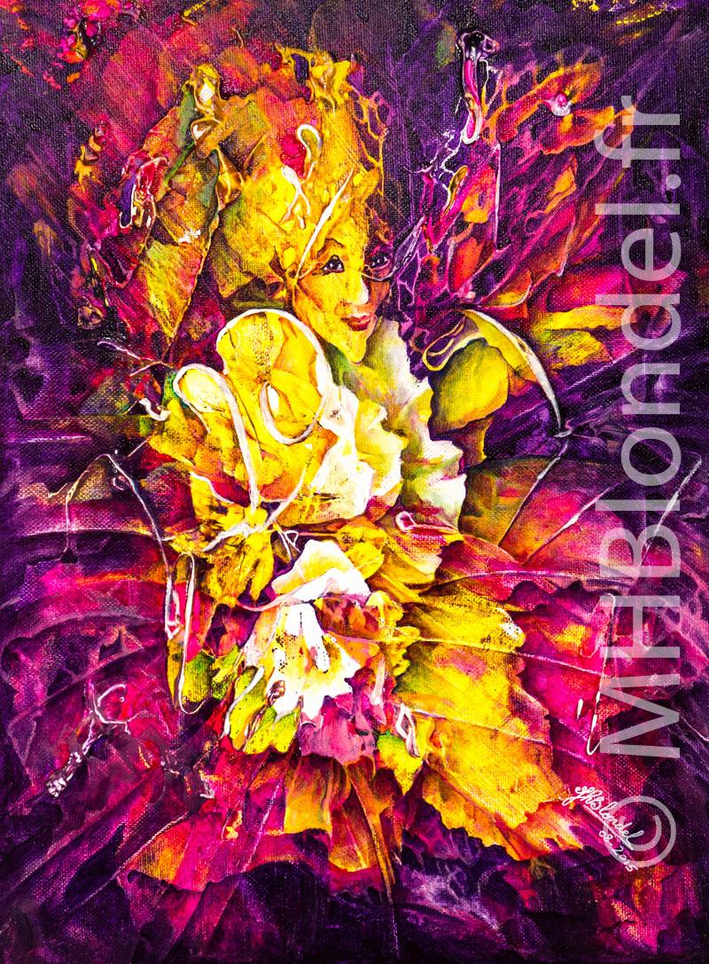 Sophie'stication – Acryliques sur toile – 40 X 30 cm – 150€