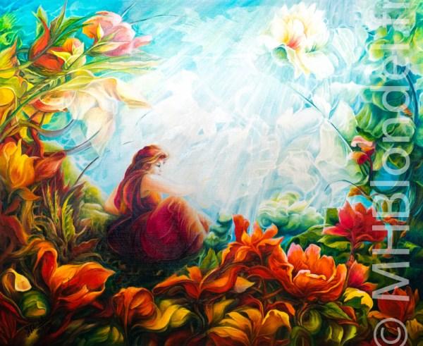 Romantique – Huile sur toile – 60 X 73 cm – 450€