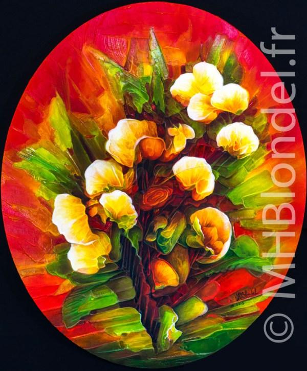 Bouquet – Huile sur toile – 60 X 50 cm – 500€