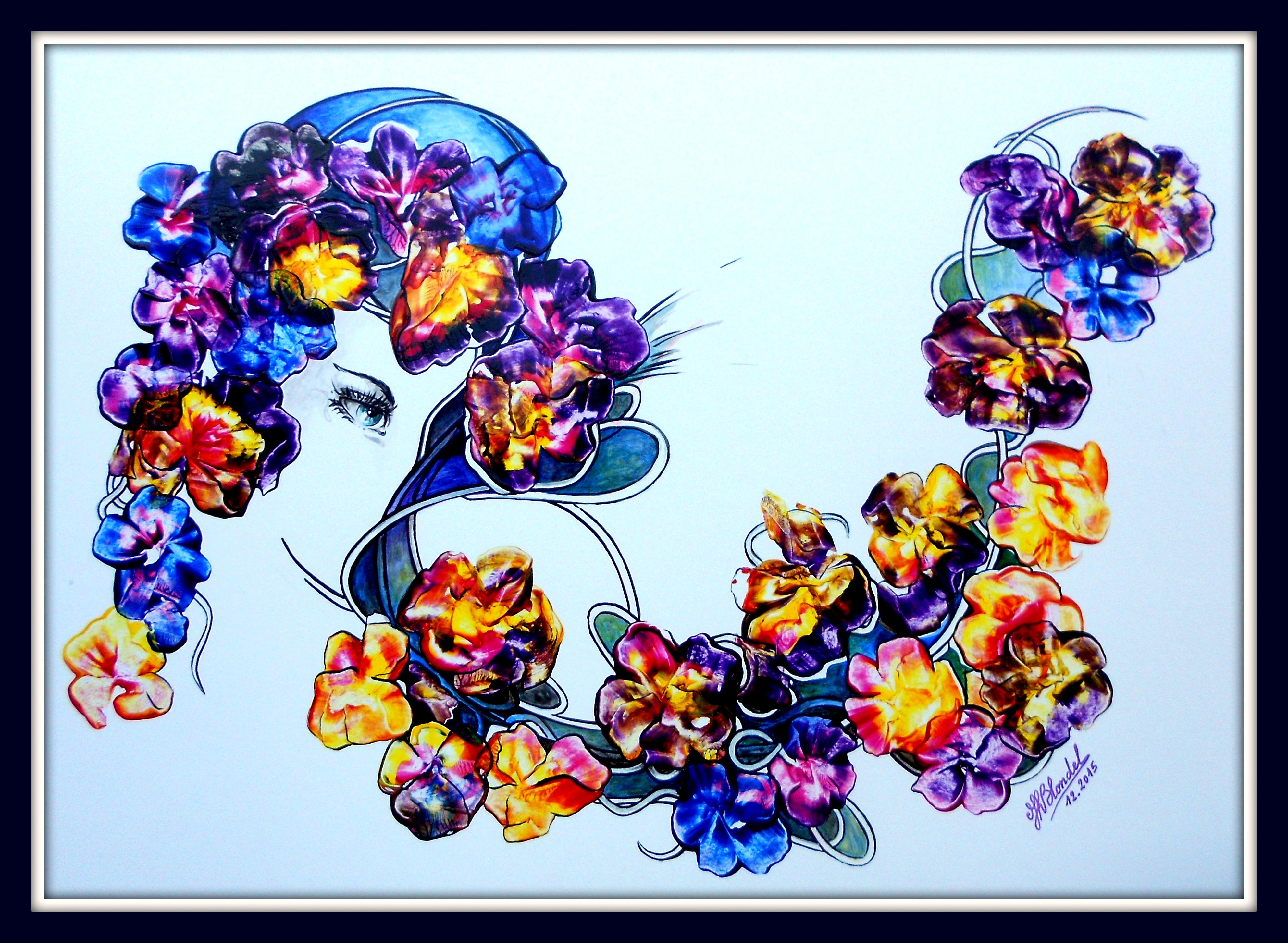 Lily – Acrylique sur carton plume – 48 X 63 cm – 250€