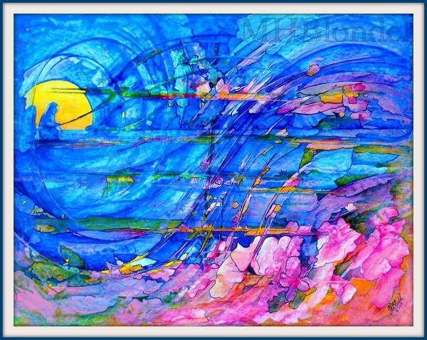 Pêcheur de rêves – Acrylique sur carton fort – 50 X 65 cm – 300€