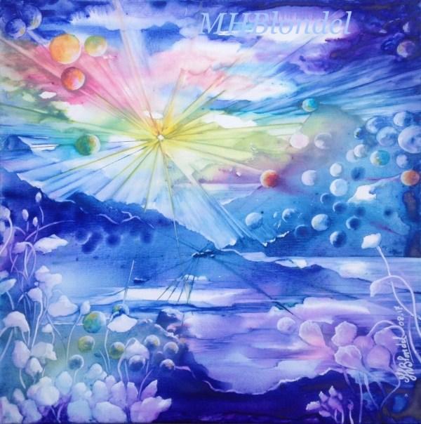 Bubble dream – Aquarelle sur toile – 30 X 30 cm – Non disponible