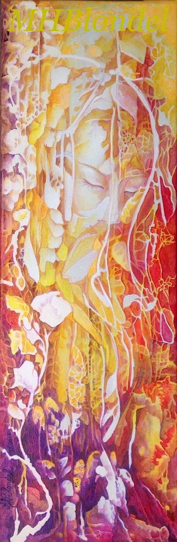 Songes d'automne – Acrylique sur toile – 20 X 60 cm – Non disponible