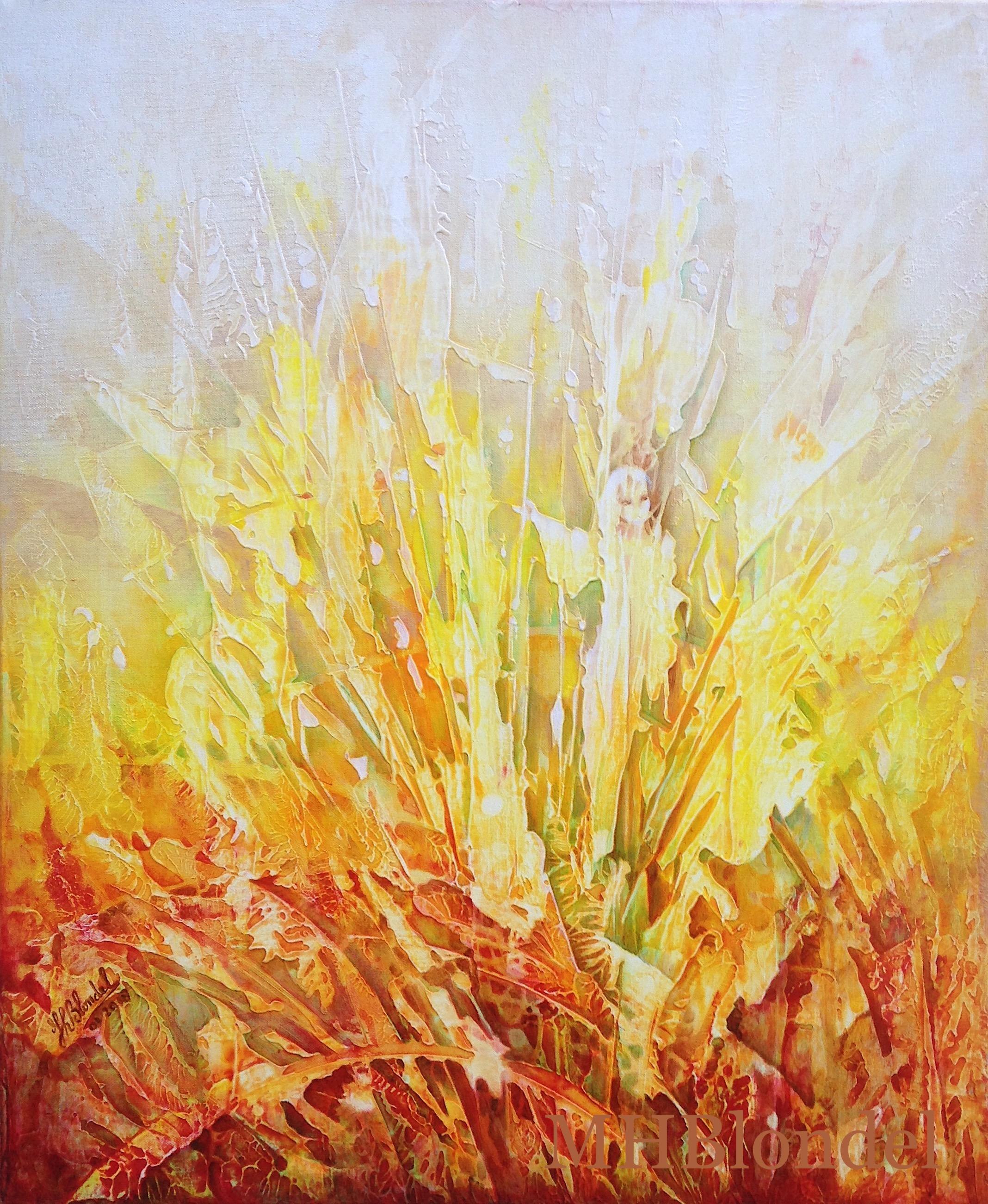 Petite fée des champs – Acrylique sur toile – 46 X 38 cm – 240€