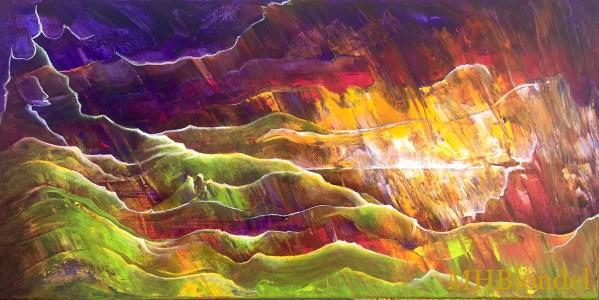 Dream Land 7 – Acrylique sur toile – 30 X 60 cm – 180€