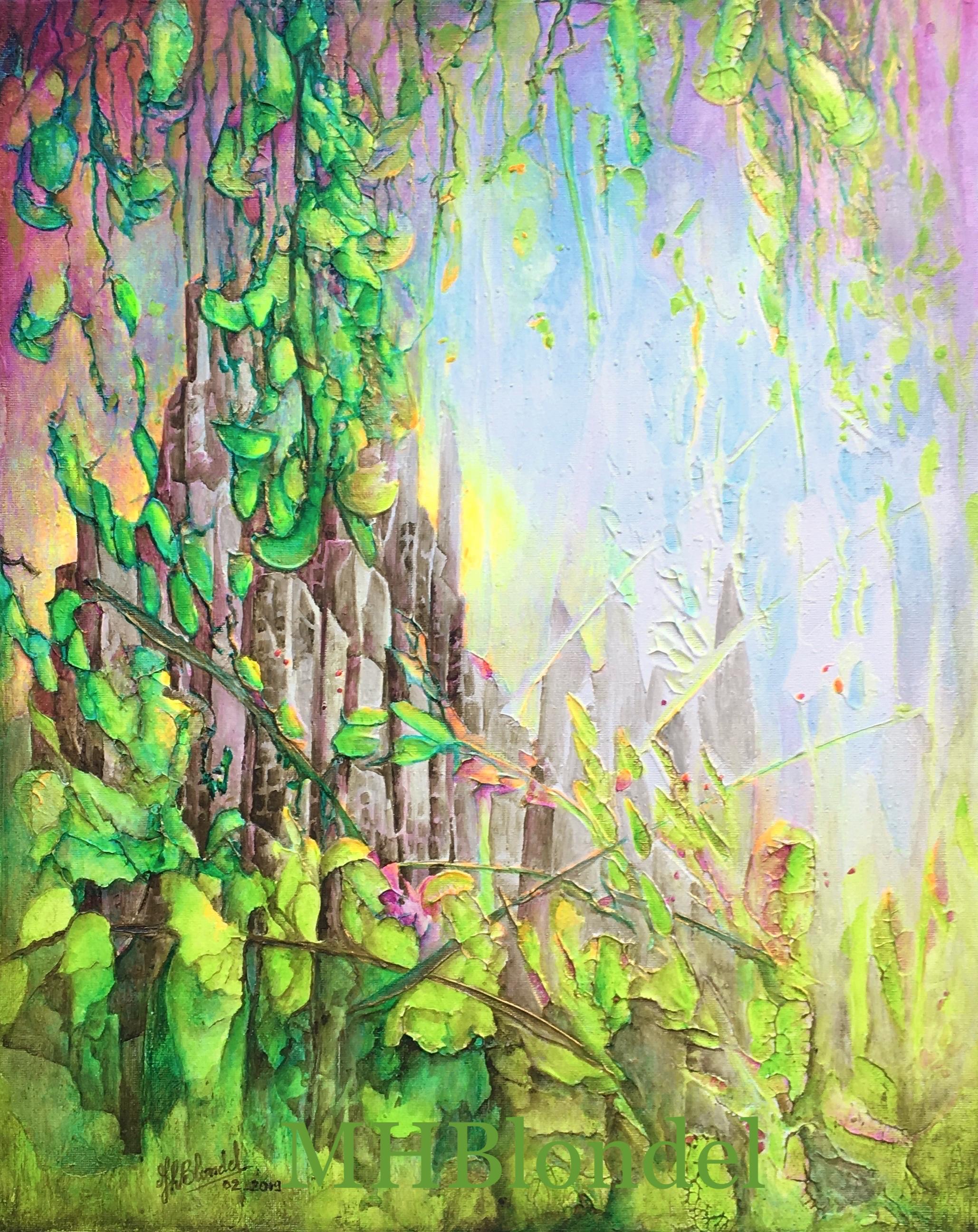 La revanche de Dame Nature – Acrylique sur toile – 50X40cm – non dispo