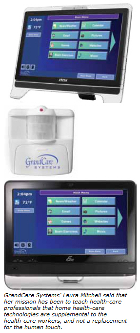 randCare Systems touch panel helps physicians monitor patients at home