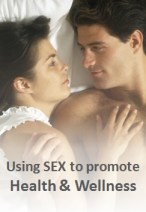 This intimate but tasteful photo of a man and wife in bed shows how Sex can be used to promote Health & Wellness.