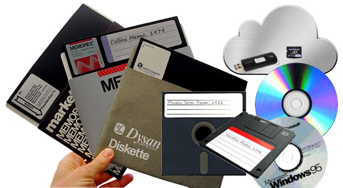 "Digital media includes 8"" and 5.25"" floppies, diskettes, CD/DVD/BluRay discs, thumb drives, XD cards, and cloud storage."