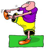 Cartoon character exercizing