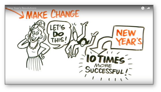 You are 10 times more likely to stick to a change made at the New Year, according to Dr. Mike Evans.