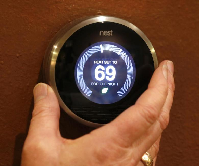 Google's NEST thermostat is just one of the wireless sensors that can help prevent senior injuries at home