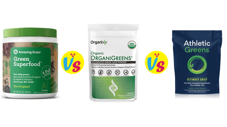 Amazing grass Vs. Athletic greens Vs. OrganiGreens MHE and Me Review