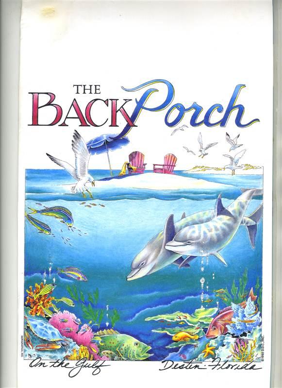 Back Porch Destin Menu