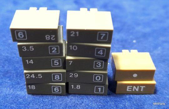 Icom IC-760 Pro , IC-765 Original Band Buttons Lot Used