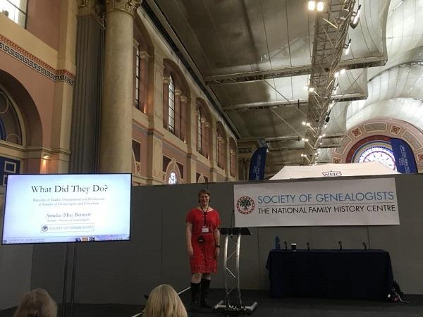 Amelia Bennett Occupations talk Family Tree Live Alexandra Palace