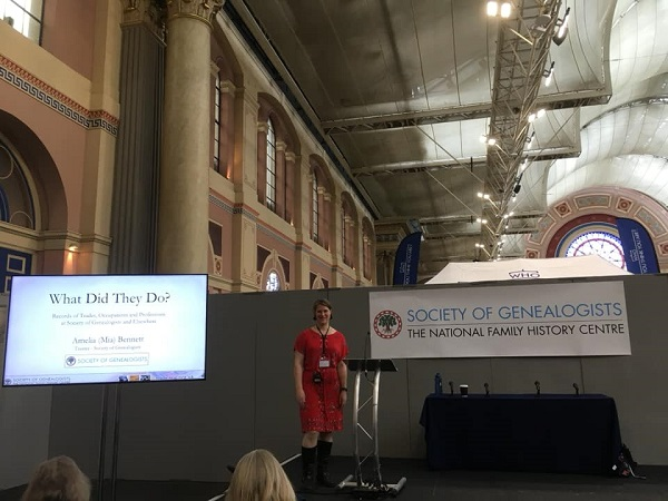 Amelia Bennett Occupations talk Family Tree Live Alexandra Palace