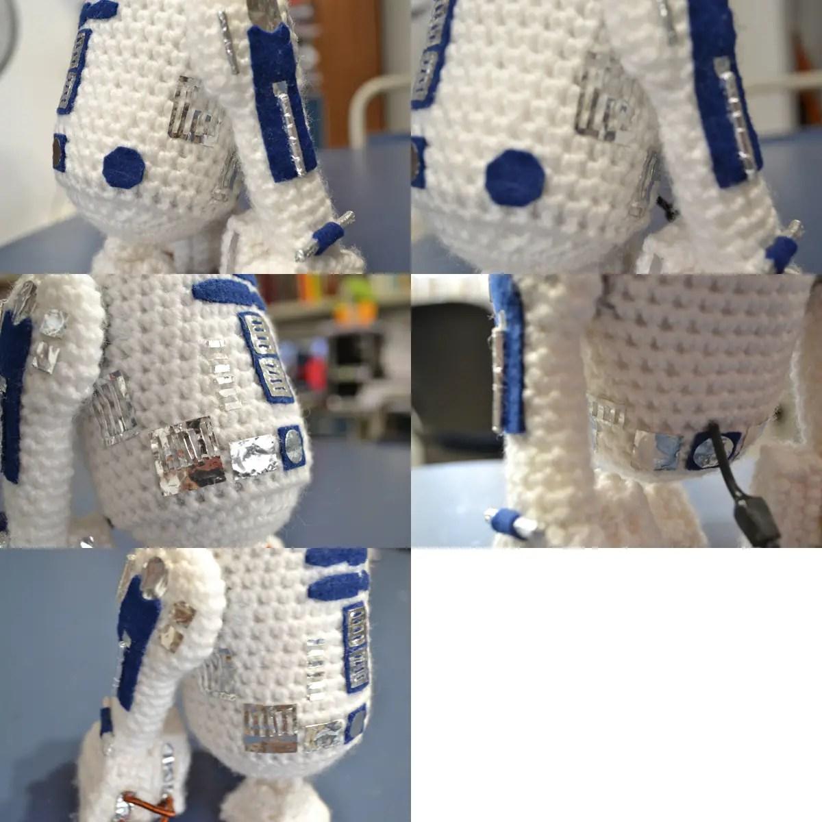 R2-D2 Droid Crochet Hat Tutorial inspired by Star Wars | Crochet ... | 1200x1200