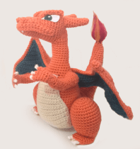 Charizard made by Kayleigh. Love him so much, that made me wanna crochet one in the same colors for me, hehe :D