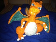 Charizard made by TenB from Ravelry. He is handsome!