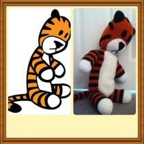 Hobbes made by Alejandra. It looks identical to the cartoon Hobbes!