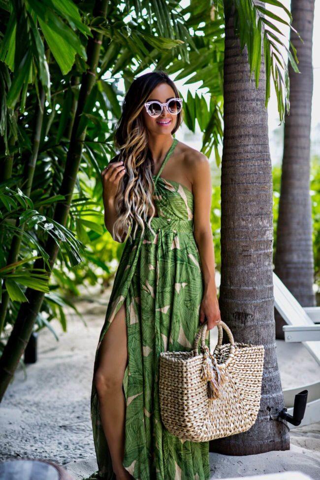 Under 100 Palm Print Dress Mia Mia Mine