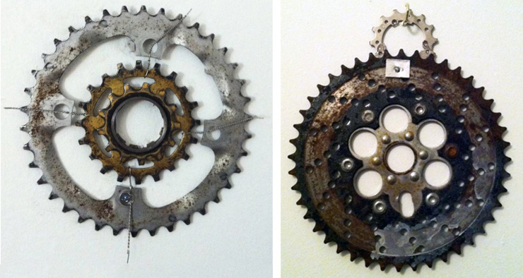 Vera Arias' Bike Sculptures.