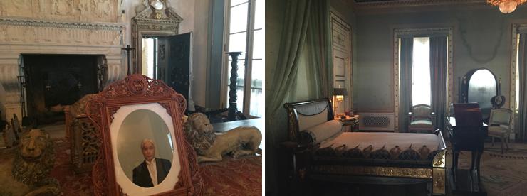LEFT: David Rohn Self-Portrait of Waitstaff. RIGHT: Deering's Bedroom