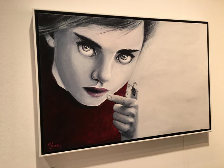 Monique Lassooij at Casa Mondo Gallery. (Photo by Monica Torres)