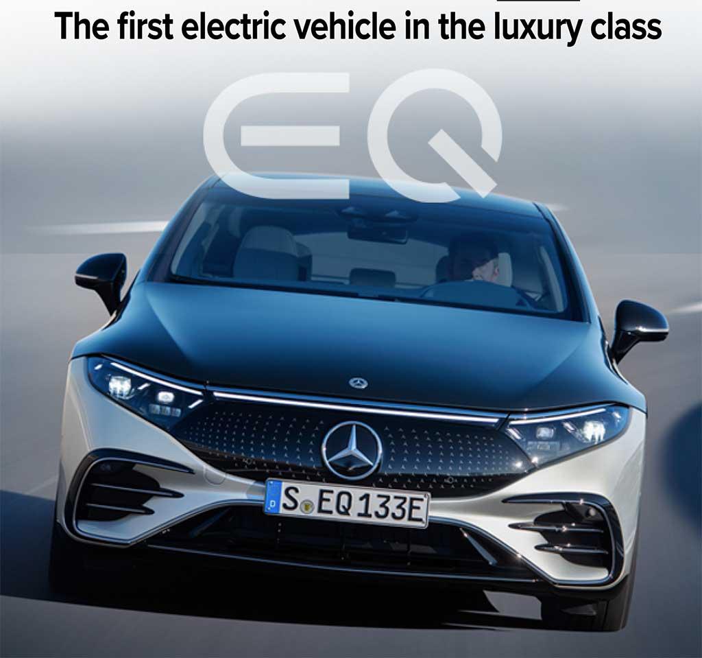 Mercedes Benz EQS All Electric Luxury Sedan