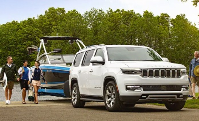 2022 JEEP GRAND WAGONEER TOWING BOAT