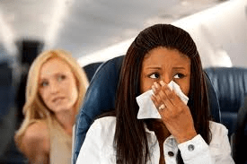 airplane and colds