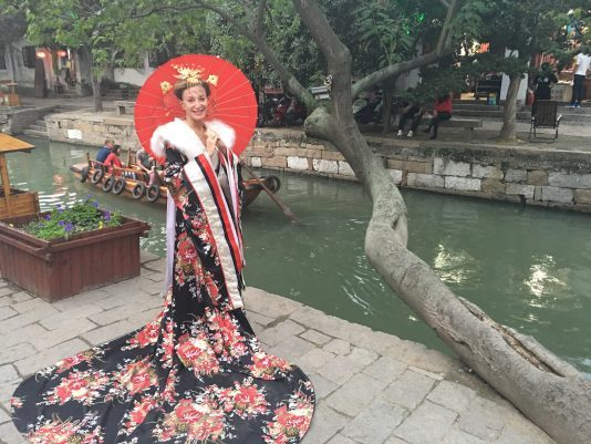 Yours truly dressed up as the Empress of China in the water village of Tongli south of Shanghai