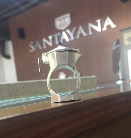 cafetera ring, Santayana jewelry, Cuban jewelry, Santayana coral gables, MiamiCurated