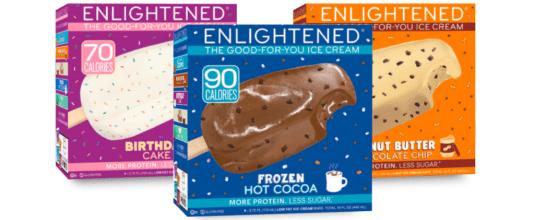Elightened bars,best low calorie ice cream, MiamiCurated
