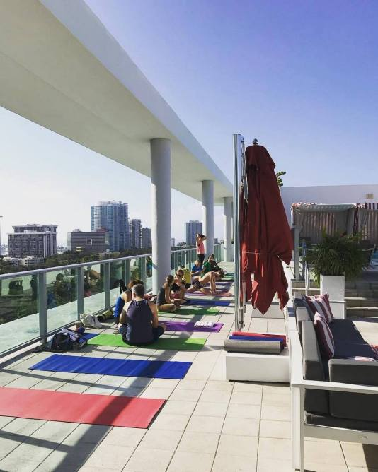 yoga miami, rooftop yoga Miami, workout Miami, rowing Miami, workout Miami, MiamiCurated, best workout Miami