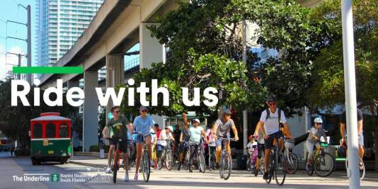 One of many bike tours in Miami, the Underline Cycling Club Vicaya Tour