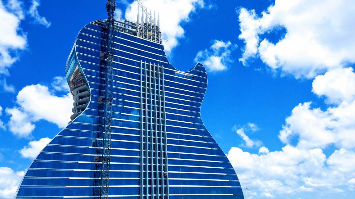 inauguracion Hard Rock Hotel Guitar Miami