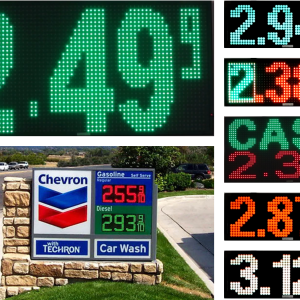 Gas Price LED Signs-31 x 13 Inches
