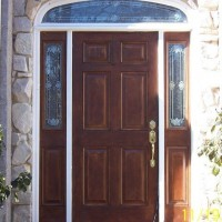 Wood door, rotted jamb, drafty replacement - Before
