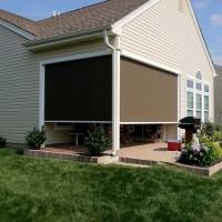 Solar Screens Enclosing a Porch - Exterior View