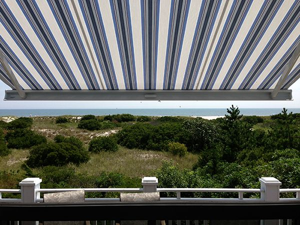 automatic metal deck awning