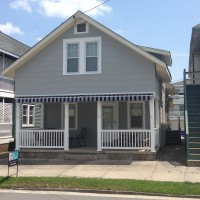 drop arm awning - retracted