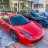 Ferrari en Corvette in Miami Beach