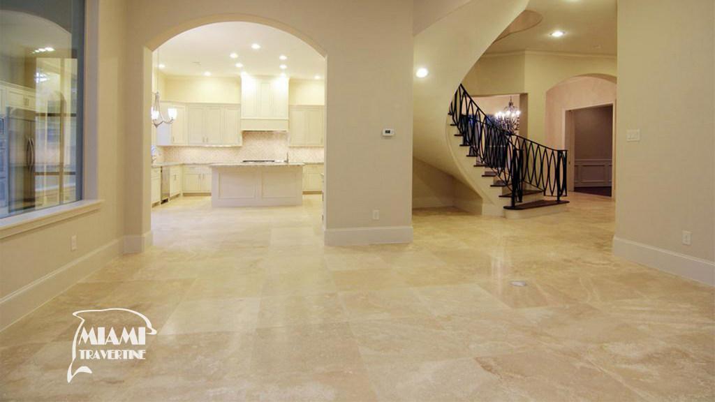 travertine tile filled honed 24x24