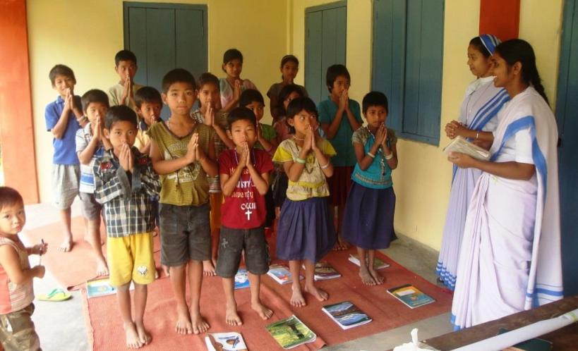 Catechism Class in Rajanagar, Miao Diocese