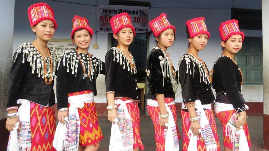 A Singpho Tribal Dance by the students from Light of the World School, Miao