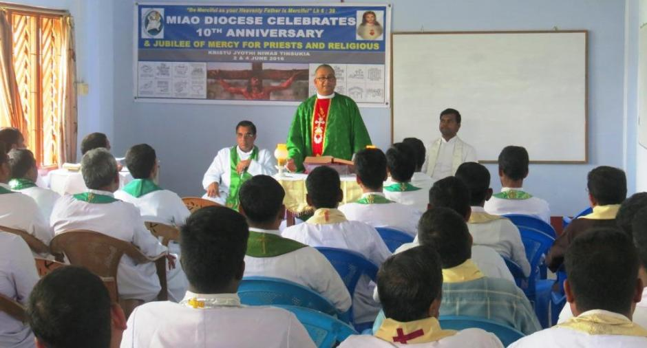 Bishop George Celebrating Mass for the Priests