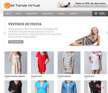 Muestra de tienda virtual de Franquicia De Impacto
